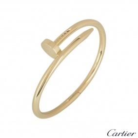 Cartier Yellow Gold Plain Juste Un Clou Bracelet Size 15 B6048215